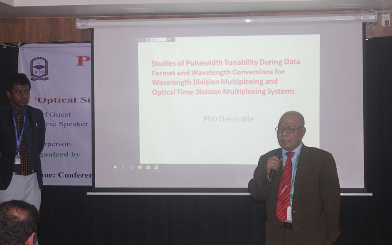 The seminar was chaired by Prof Dr M Abdus Sobhan, Vice Chancellor of the University.