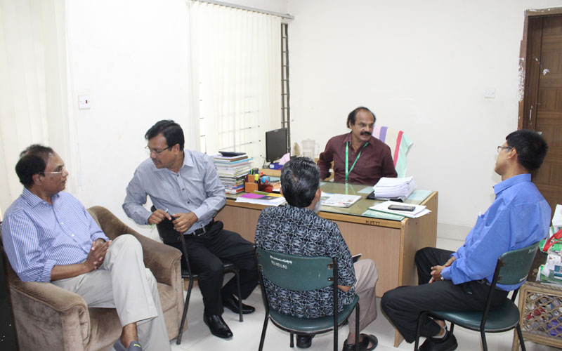 EPR team is with Nur Hossain Talukder, Controller of Examinations