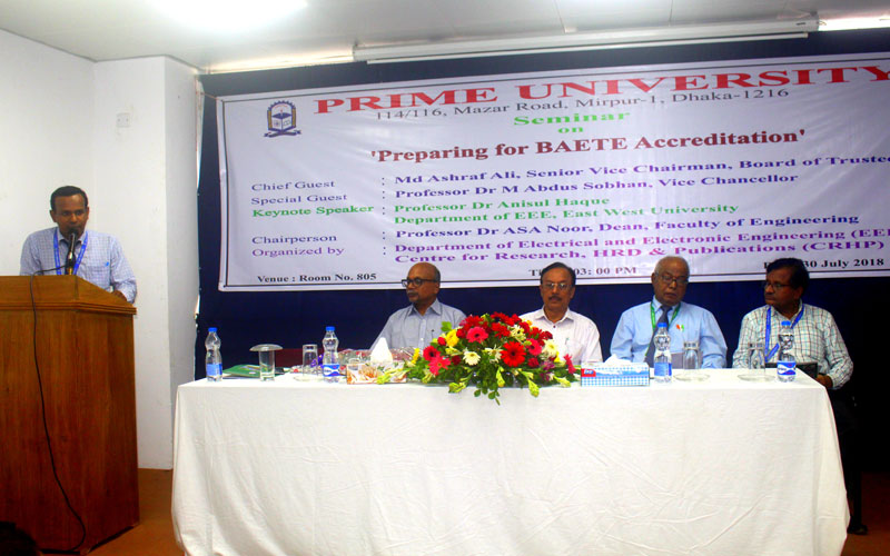<p align=center>Md Mostak Ahmed, Head, Department of EEE is delivering his address of welcome </p>