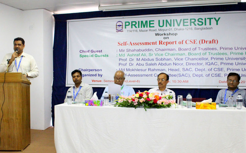 Md. Jahidul Azad, Additional Director of IQAC, Prime University delivering his speech<br>