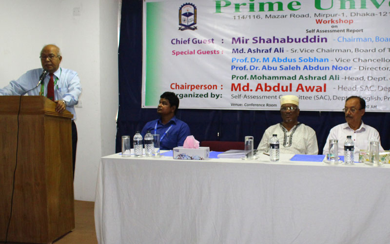 Vice Chancellor of Prime University Prof. Dr. M. Abdus Sobhan delivering his speech