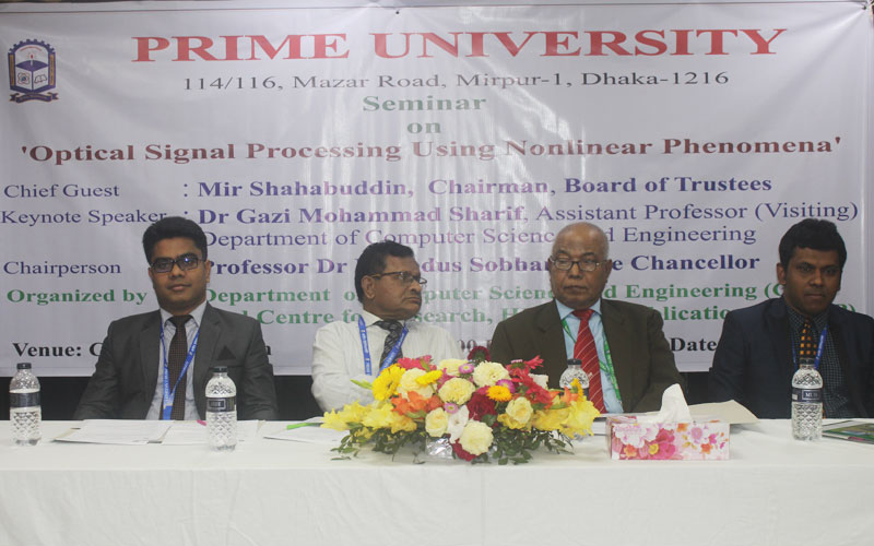 Seminar on Optical Signal Processing Using Nonlinear Phenomena Held