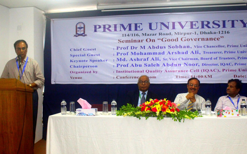 <p>Dean, Dept. of Business Administration Prof. Jahangir Alam is delivering his speech</p>