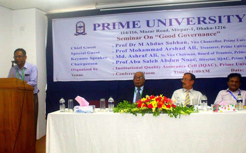 <p>Registrar, Prime University is delivering his speech</p>