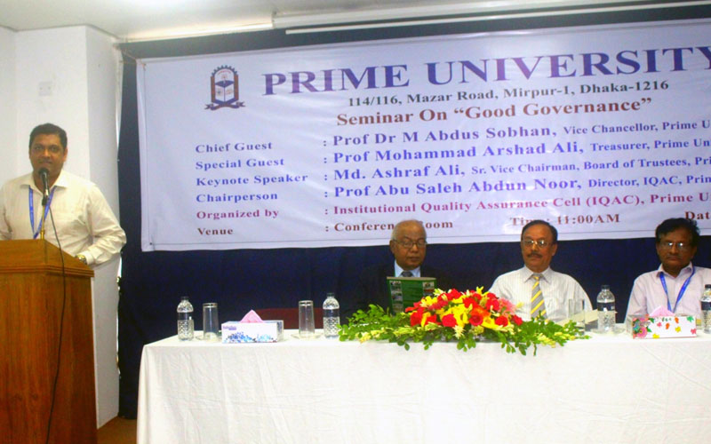 <p>Additional Director of IQAC, Md Jahidul Azad is delivering his speech</p>