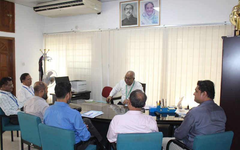 EPR team is with Prof Dr M Abdus Sobhan, Vice Chancellor