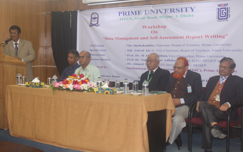 Chairman, BOT, Prime University and Chief Guest of the Program, Mir Shahabuddin delivering his speech