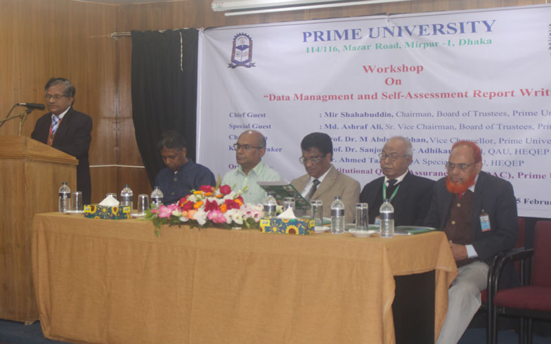 Director, IQAC of Prime University, Prof Dr A S A Noor delivering his speech